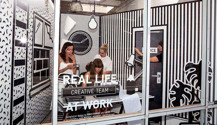 Wieden + Kennedy Displays Workers In A Pop Art Cage