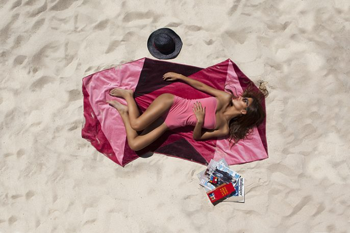 Hip, Geometric Beach Towels That Magically Repel Water
