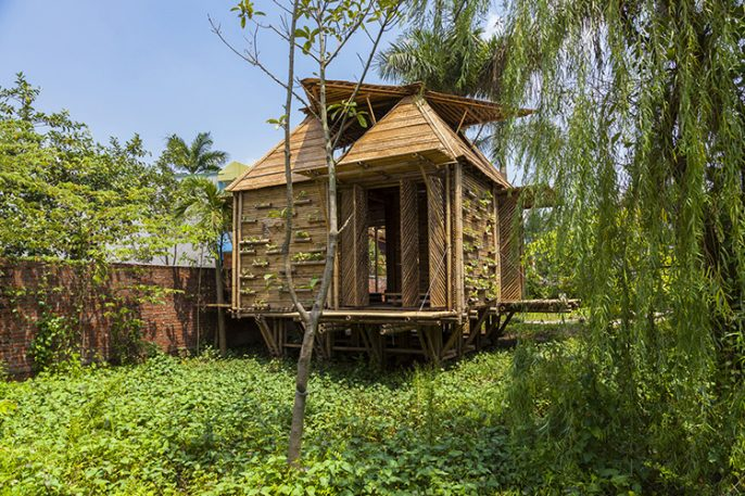A Bamboo House That Weathers Storms
