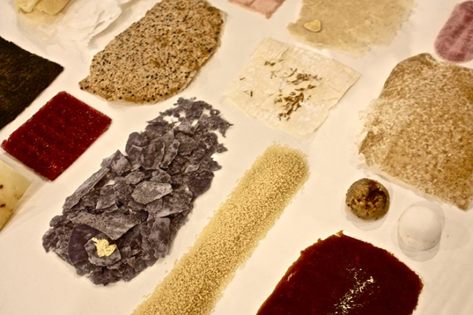 Delicious Textiles Made From Licorice, Noodles, And Ham