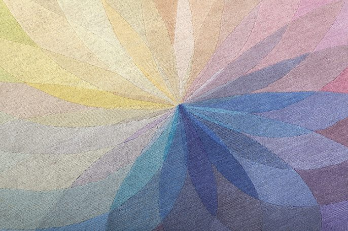 Handmade Rugs That Look Like Color Wheels