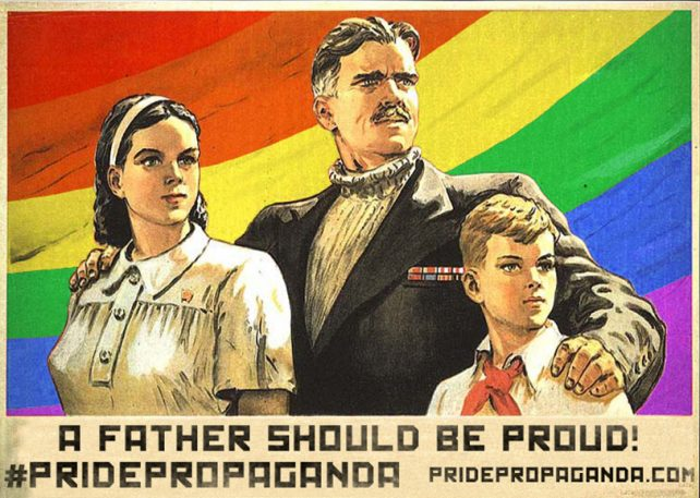 Soviet Propaganda Becomes Fabulous Gay Pride Posters