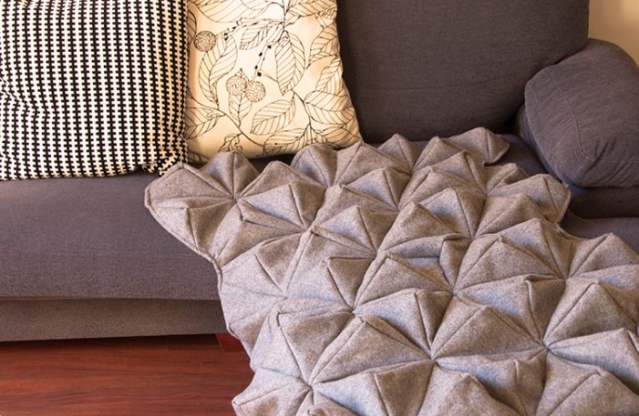 From An Ex-Apple Designer, A Cozy Blanket Inspired By Origami And Science