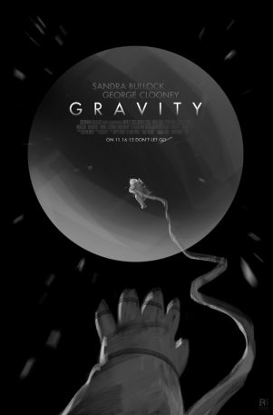 """The Early Posters For """"Gravity"""" Capture The Terror Of Space"""