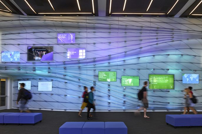 Digital Post-It Wall Puts Student Thesis Projects On Display