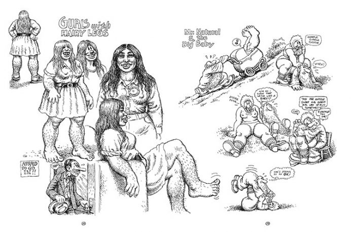 The Drug-Fueled Early Sketches Of Comic-Book Legend R. Crumb [NSFW]