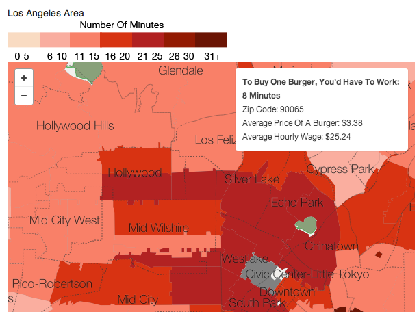 How Long Would You Have To Work To Buy A Burger In NYC?