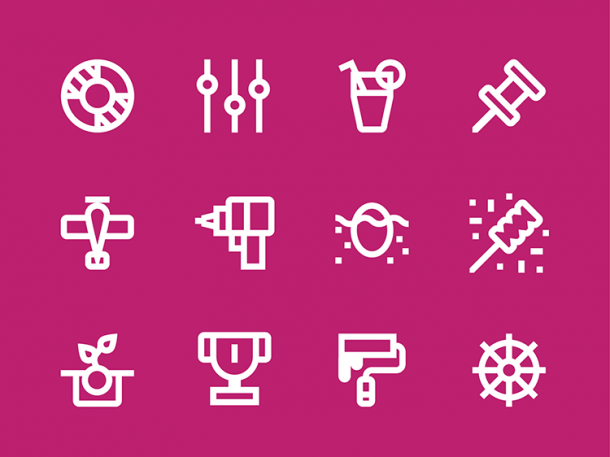Universal Symbols For Verbs, From Headbanging To Hallucinating
