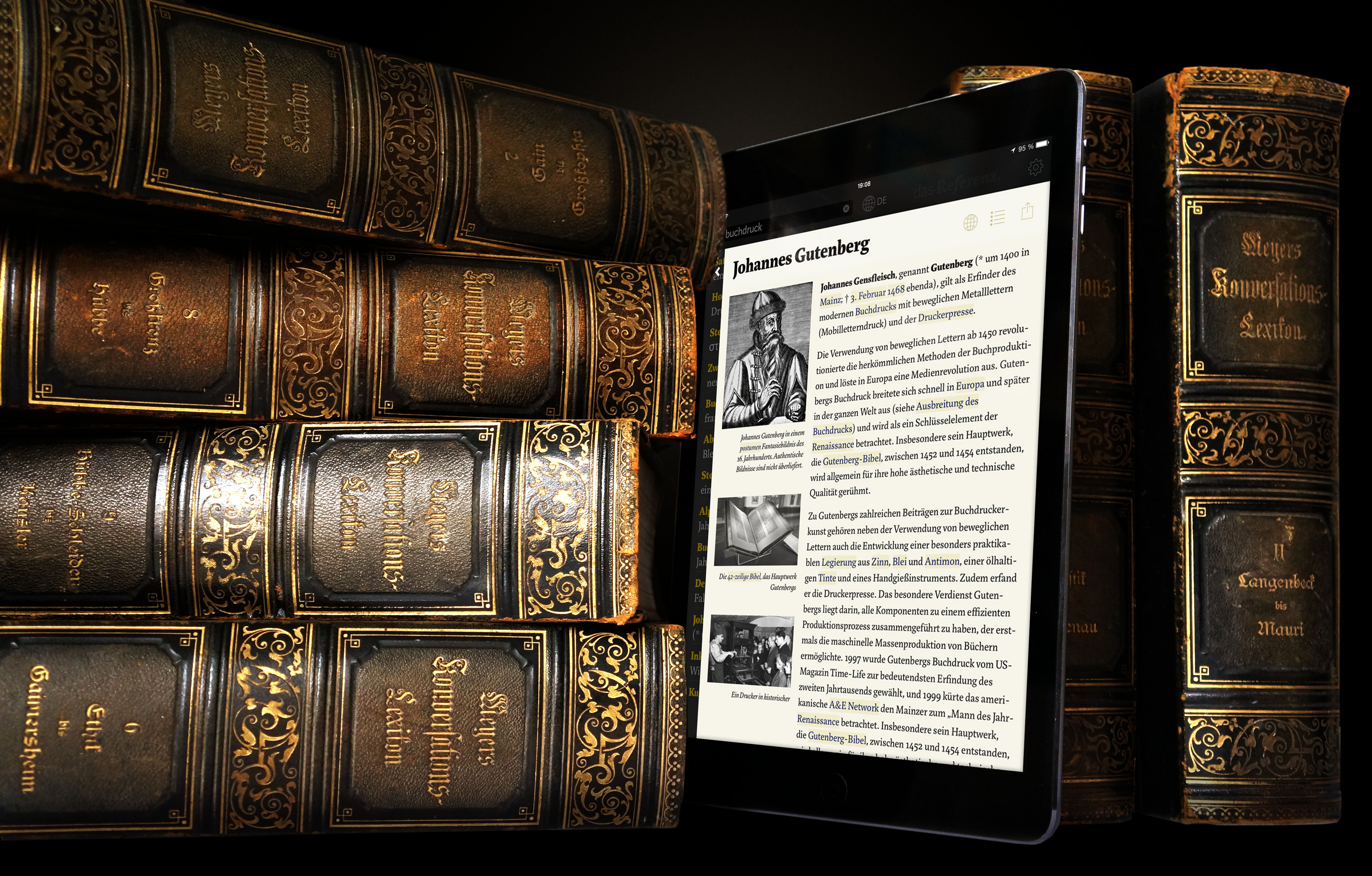Wikipedia App Inspired By 109-Year-Old Encyclopedia