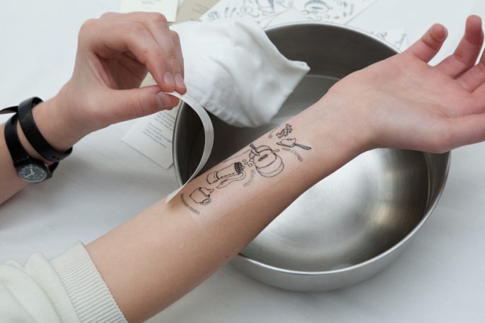 Temporary Tattoos Turn Your Arm Into A Cookbook