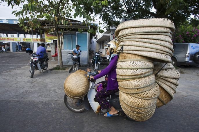 Baskets, Hula Hoops, And Sharks: The Things You Find On A Vietnamese Motorbike