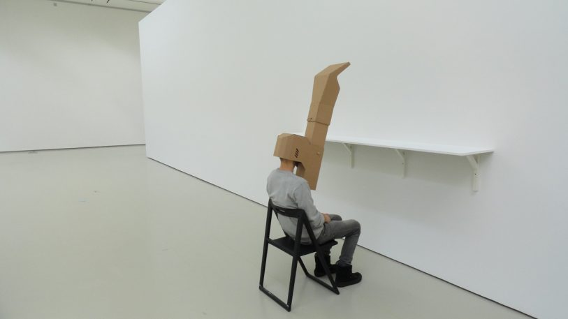 A Cardboard Mask That Teleports Your Eyes To Your Belly Button