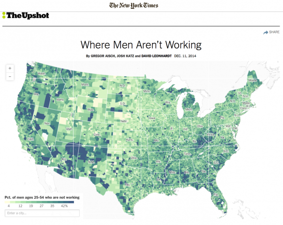 The Decline Of Male Workers, Visualized