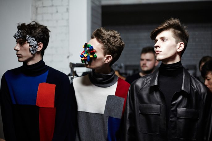 Lego Cyborgs Invade London Fashion Show