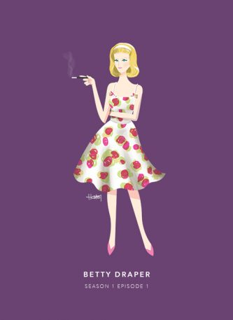 Don Draper Has Boinked More Than 20 Women, And This Illustrator Is Drawing Every Single One