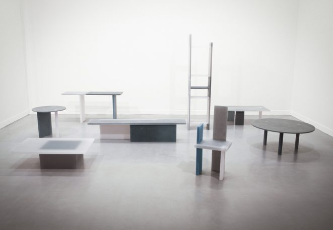 An Artist Transforms Slabs Of Resin Into Moody, Translucent Furniture