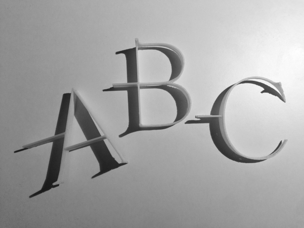 This Shadowy Typeface Tells The Time Like A Sundial