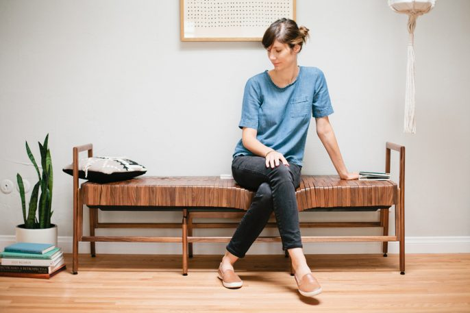 This Solid-Wood Bench Conforms To Your Body Like Memory Foam