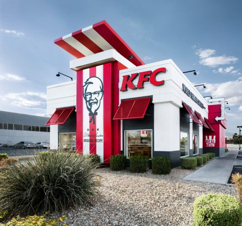 KFC's Redesigned Store Looks Like A Half-Finished Banksy