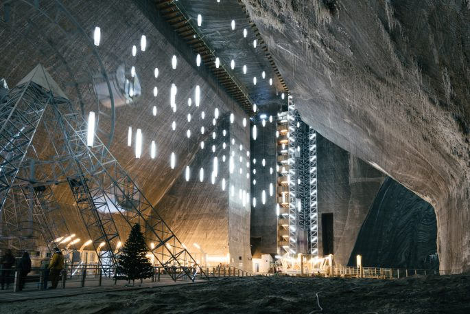 There's A Functioning Amusement Park Inside This Ancient Salt Mine