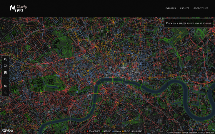 An Emotional Map Of The City, As Captured Through Its Sounds