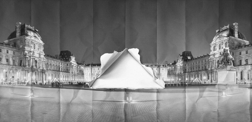 Amazing Optical Illusion Makes The Louvre's Pyramid Disappear
