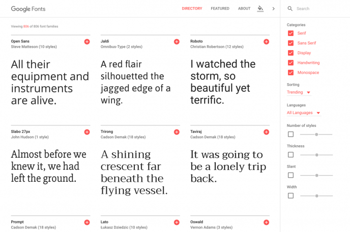 Find Free Fonts On Google's Slick New Site