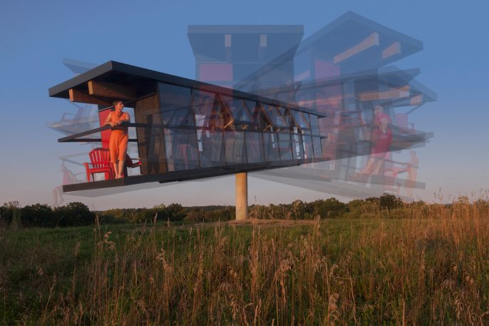 This Experimental Home Tilts Like A See-Saw As You Walk Around Inside
