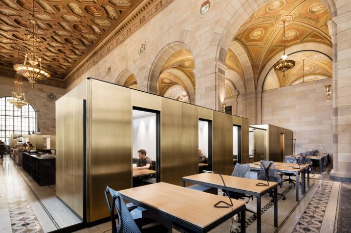 This Chic Co-Working Space Revitalizes A Grand, Abandoned Bank
