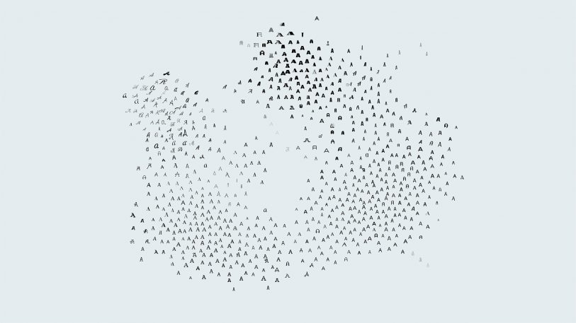 A Map Of The Typographic Universe, Drawn By AI