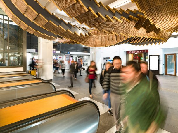 This Awesome Transit Art Is Made Out Of Antique Wooden Escalators