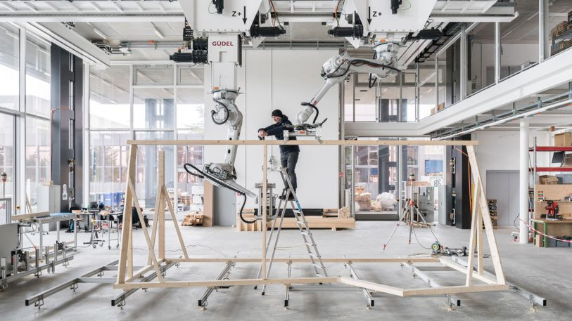 Robots Enable Wood Structures Previously Too Complex To Build