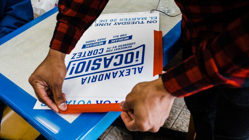 How the Alexandria Ocasio-Cortez campaign got its powerful design