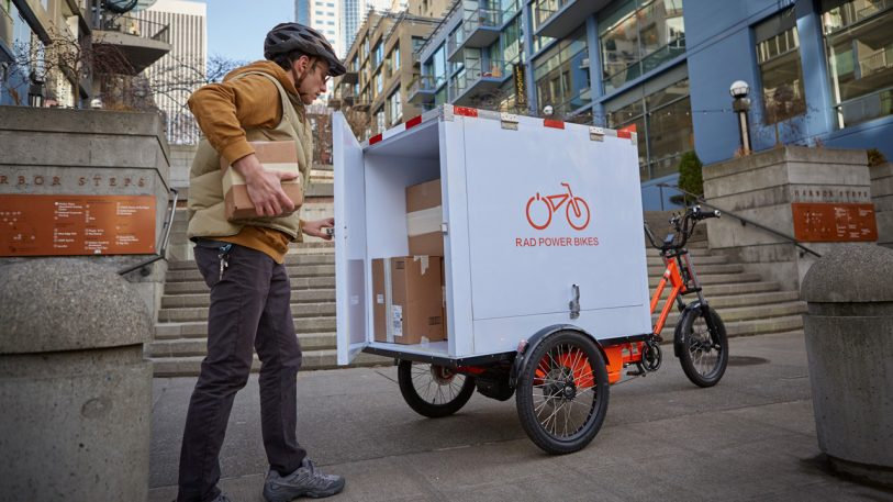 I rode the 300-pound electric tricycle that could be the future of urban deliveries