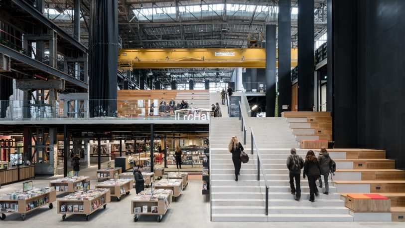The library of the future is in an 80-year-old converted train shed