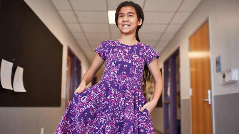 Little girls can have their Pi Day dress and twirl in it, too