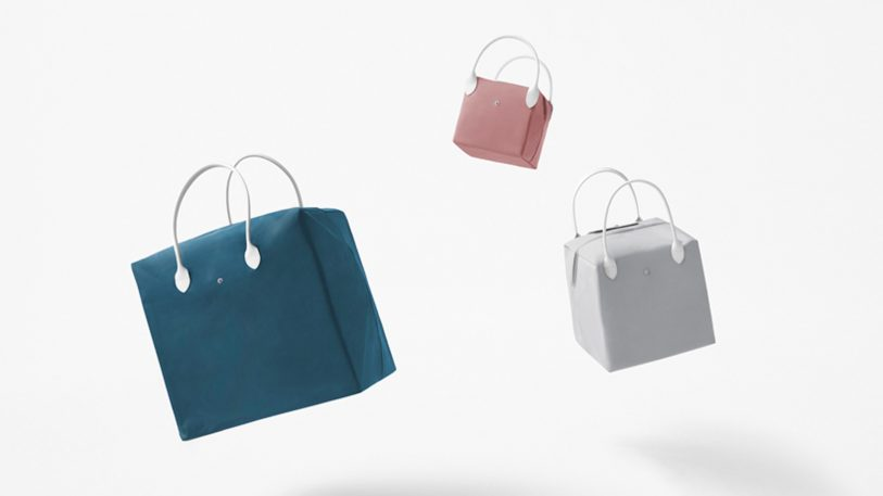 Nendo and Longchamp collab on purses that double as storage boxes
