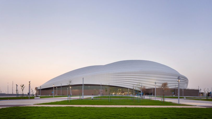 See the first photos of Zaha Hadid's controversial World Cup stadium here
