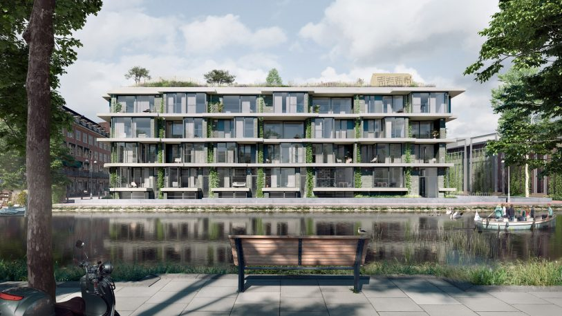 Forget green roofs–this apartment building has sand dunes on top