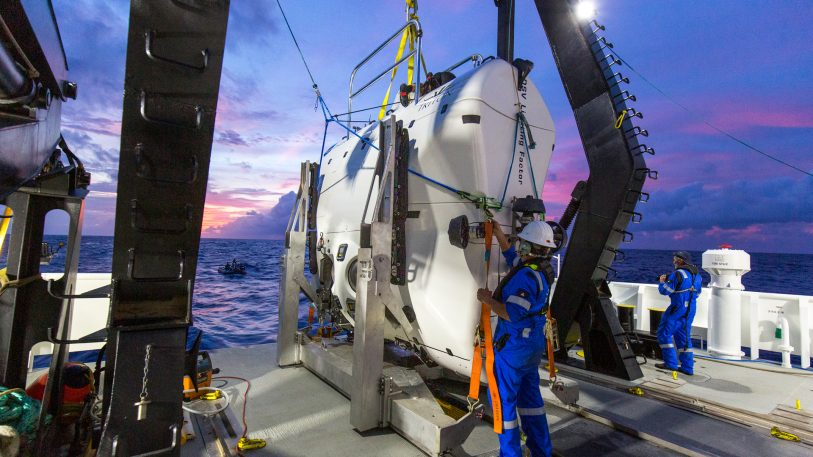 Undersea explorer goes deeper than any solo diver in history and finds plastic