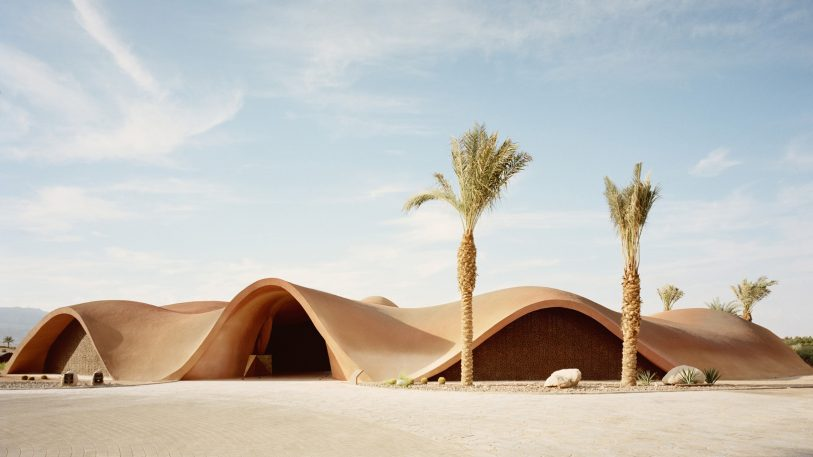This gorgeous beach resort appears to disappear in the desert sand