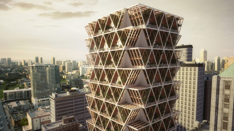 Live in your own farm in the sky in this plant-covered apartment building