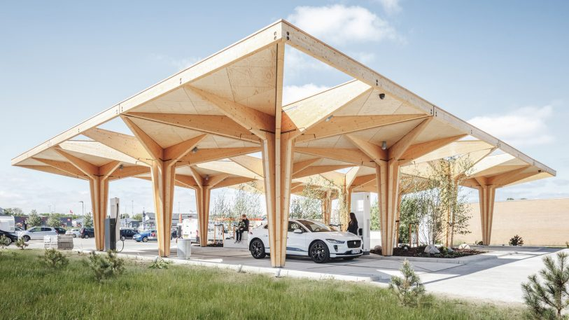 These beautiful electric charging points are the gas station of the future