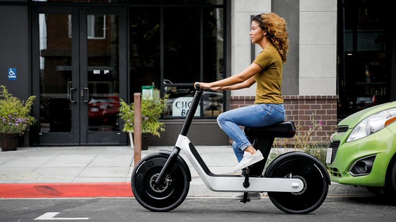 Could this half-bike, half-scooter create a new form of urban transit?