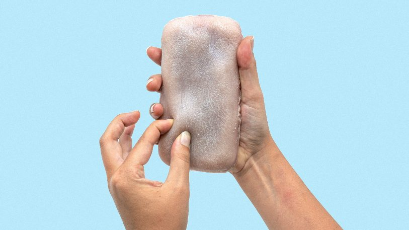 This radical phone has skin that feels your pinch