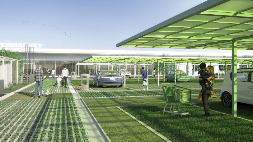 A better use for sprawling, big-box store parking lots? Urban farms
